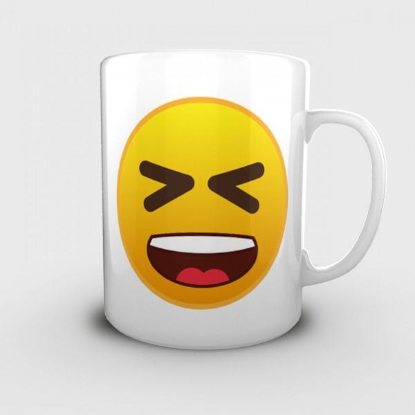 """Lachflash Emoji"" Tasse/Kaffeebecher (330ml)"